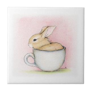 Taza de té azulejo cuadrado pequeño