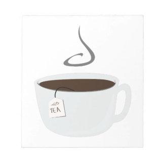 Taza de té libreta para notas