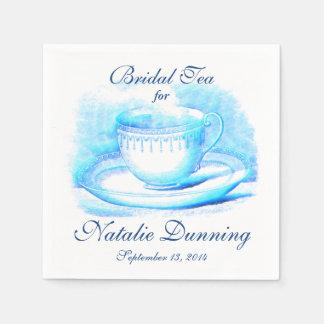 Taza de té de la acuarela servilletas desechables