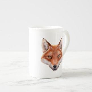 Taza de té de la cara del Fox rojo Taza De Porcelana