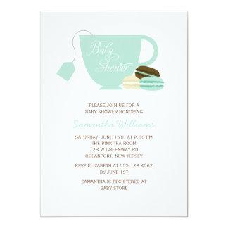 Taza de té de la menta y fiesta de bienvenida al comunicado personalizado