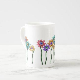 Taza de té de las floraciones taza de porcelana