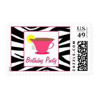 Taza de té de las rosas fuertes/franqueo de la fie timbres postales
