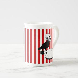 Taza de té del pájaro del cráneo de la secuencia d taza de china