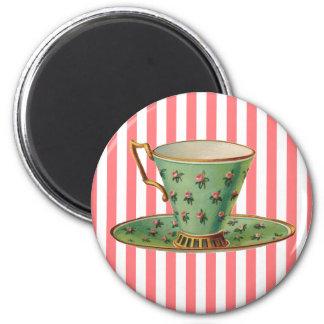 Taza de té del Victorian del vintage Iman Para Frigorífico