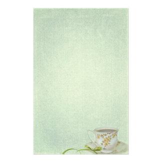taza de té del vintage papeleria