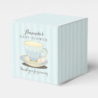 Taza de té elegante en caja azul del favor del caja para regalo de boda