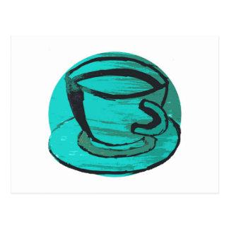 taza de té en verde postales