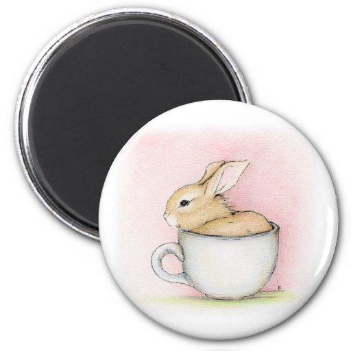 Taza de té imán redondo 5 cm