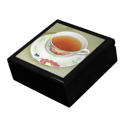 Taza de té joyero cuadrado grande