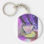 Taza de té llaveros personalizados
