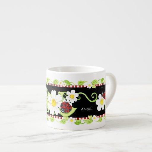 Taza de té para las fiestas del té, flor del tamañ tazas espresso