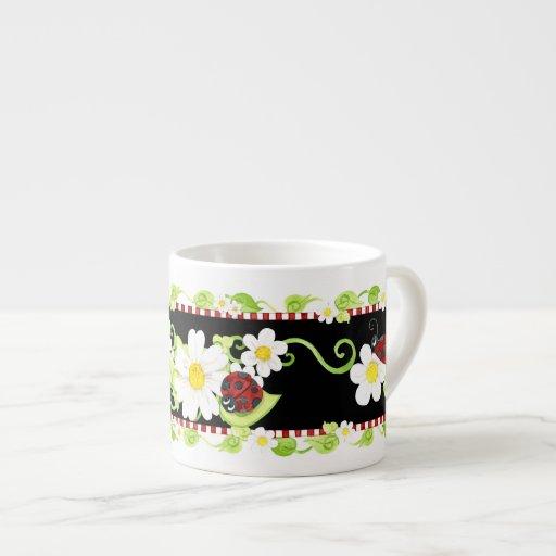 Taza de té para las fiestas del té, flor del tamañ tazita espresso