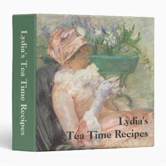 "Taza de té por Cassatt, arte del impresionismo del Carpeta 1 1/2"""