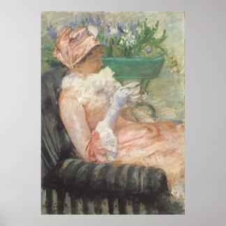 Taza de té por Cassatt, arte del impresionismo del Posters