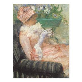 Taza de té por Cassatt, arte del impresionismo del Postal