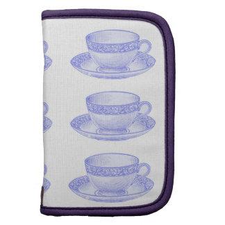 Taza de té púrpura planificador