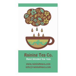 Taza de té retra de la nube de las hojas de té que