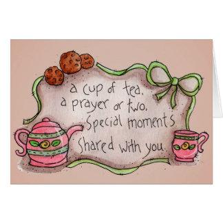 Taza de té - tarjeta de felicitación