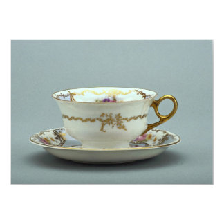 """Taza de té y platillo del siglo XX, Baviera, Invitación 5"""" X 7"""""""