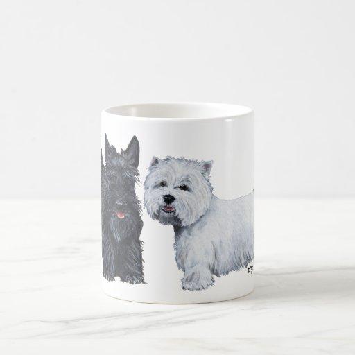 Taza de Terrier blanco de montaña escocesa y del