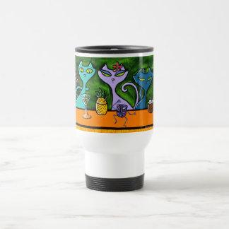 Taza de Togo de los gatos de la barra de Tiki