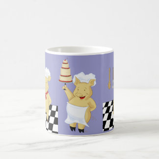 Taza de tres panaderos del cerdo