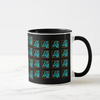 Taza de UIZE (matriz tejada en negro)