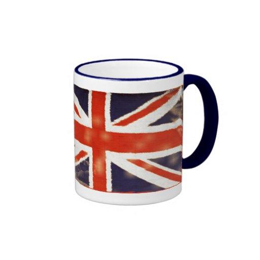 Taza de Union Jack del vintage