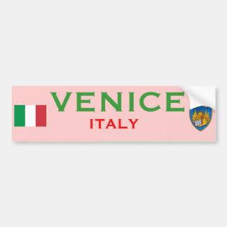Taza de Venecia (Italia) Etiqueta De Parachoque
