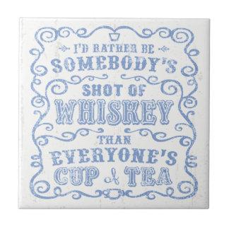 Taza de whisky tejas  cerámicas