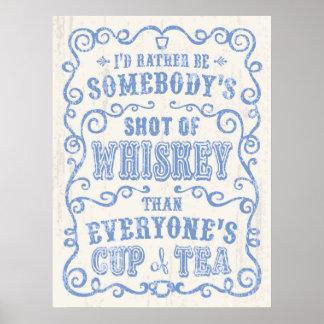 Taza de whisky póster