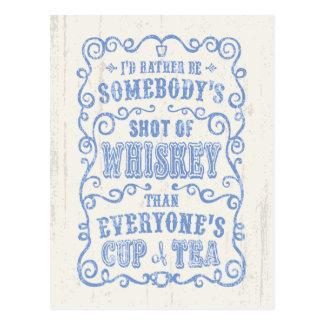 Taza de whisky tarjetas postales