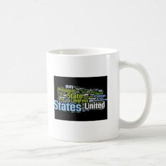 Taza de Wordle de la constitución de Estados