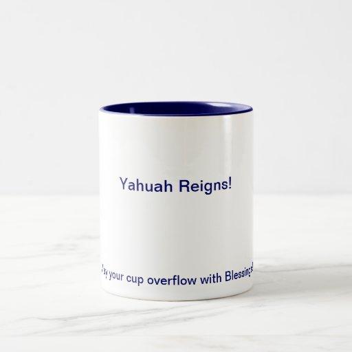 ¡Taza de Yahuah Regins! (: Taza Dos Tonos