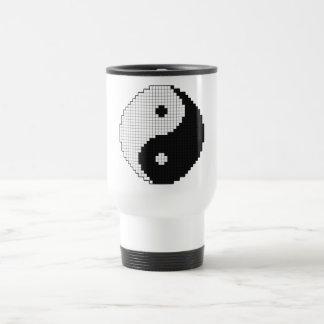 Taza de Yinyang del pixel