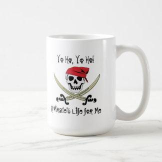 Taza de Yo Ho muy Rogelio de la vida del pirata