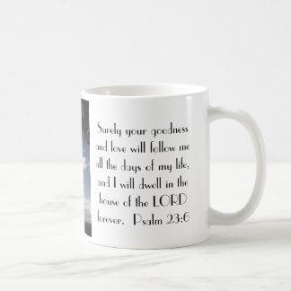 Taza del 23:6 del salmo del verso de la biblia de