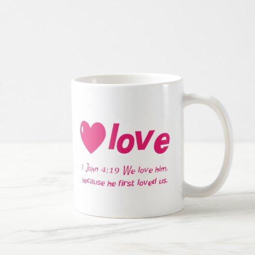 Taza del 4:19 de Juan del amor 1