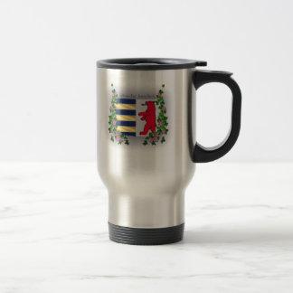 Taza del acero inoxidable del café del escudo de R
