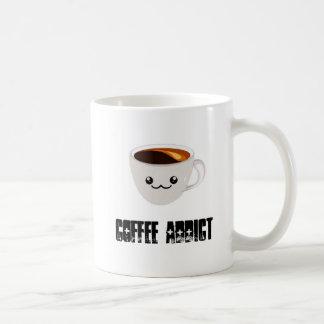 Taza del adicto al café de Kawaii