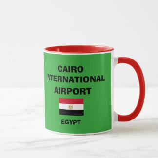 Taza del aeropuerto internacional de Egipto El