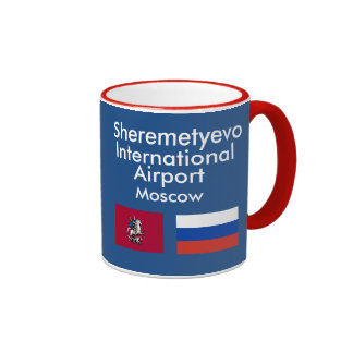 Taza del aeropuerto internacional SVO Rusia de