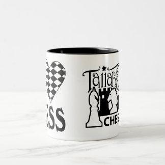Taza del ajedrez del amor del club de ajedrez de