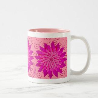 Taza del amanecer del rosa color de rosa de la