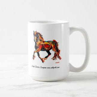 Taza del amante del caballo de Fresian