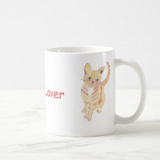 Taza del amante del gato del jengibre