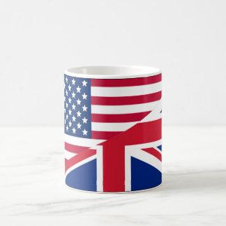 Taza del americano y de café de la bandera de