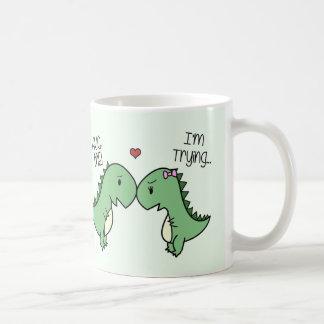 ¡Taza del amor de Dino! [En verde] Taza Clásica