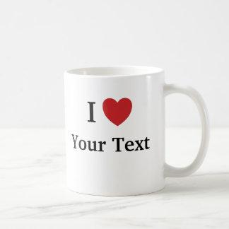 Taza del amor de la plantilla I - añada el texto +
